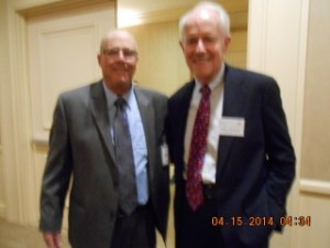 Actor, Writer, Producer, Director, Humanitarian and DPF President Mike Farrell and DPF Volunteer Terry Richards.