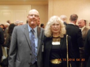 "Actor, DPF Awards Dinner Presenter, Animal Activist, and First Vice-President of ""Actors and Others for Animals"" Loretta Swit takes a few minutes to talk and pose with DPF Volunteer Terry Richards."